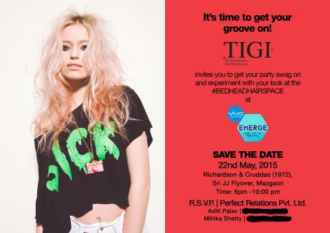 TIGI Event Invite
